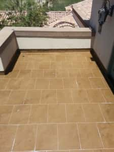 Hand Taped Tile Pattern Application Photos