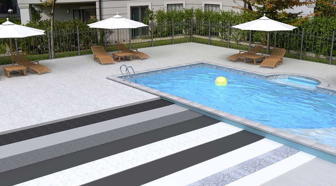 Pli-Dek HD-215 pool area