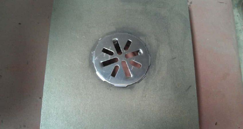 three 3 inch deck drain with cap