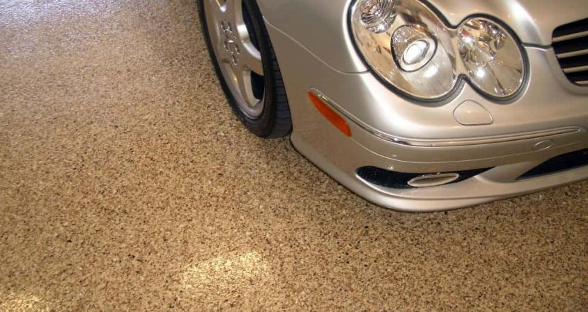 Durable Epoxy Flooring in family garage