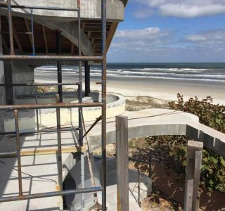 ocean front construction site