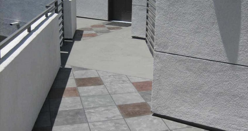 Tile and standard finish deck example