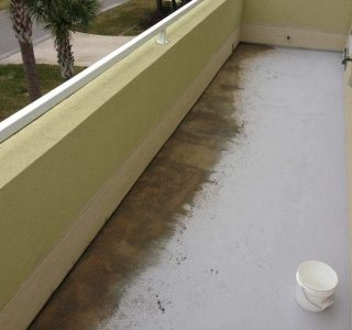 Water proofing a deck