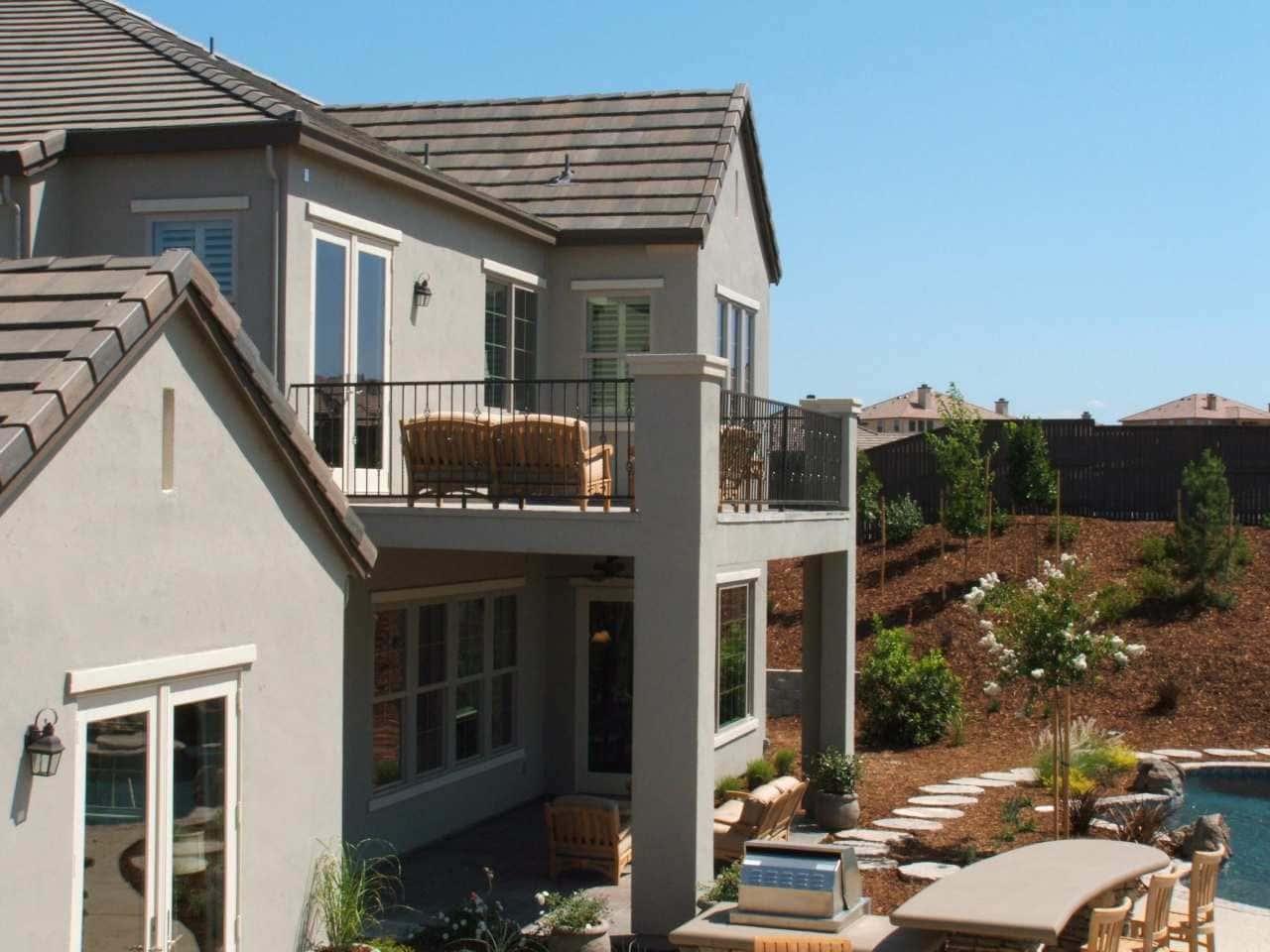 Backyard of a nice house