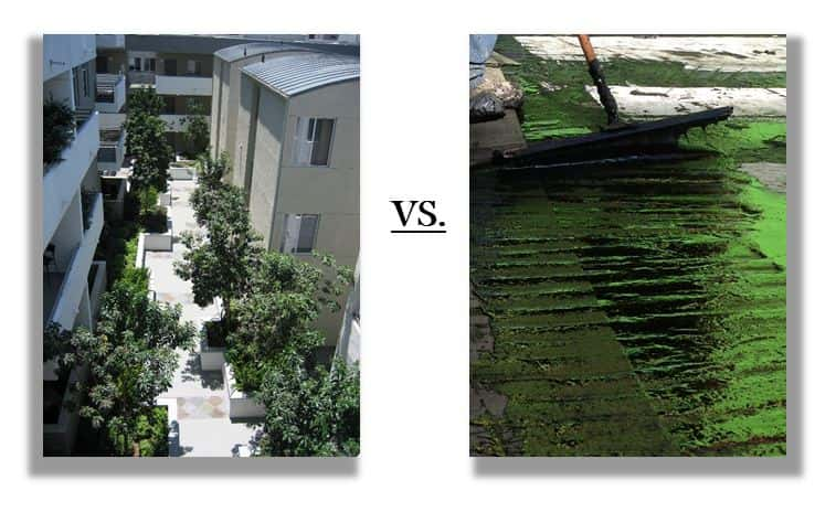 pedestrian traffic coating vs slab waterproofing
