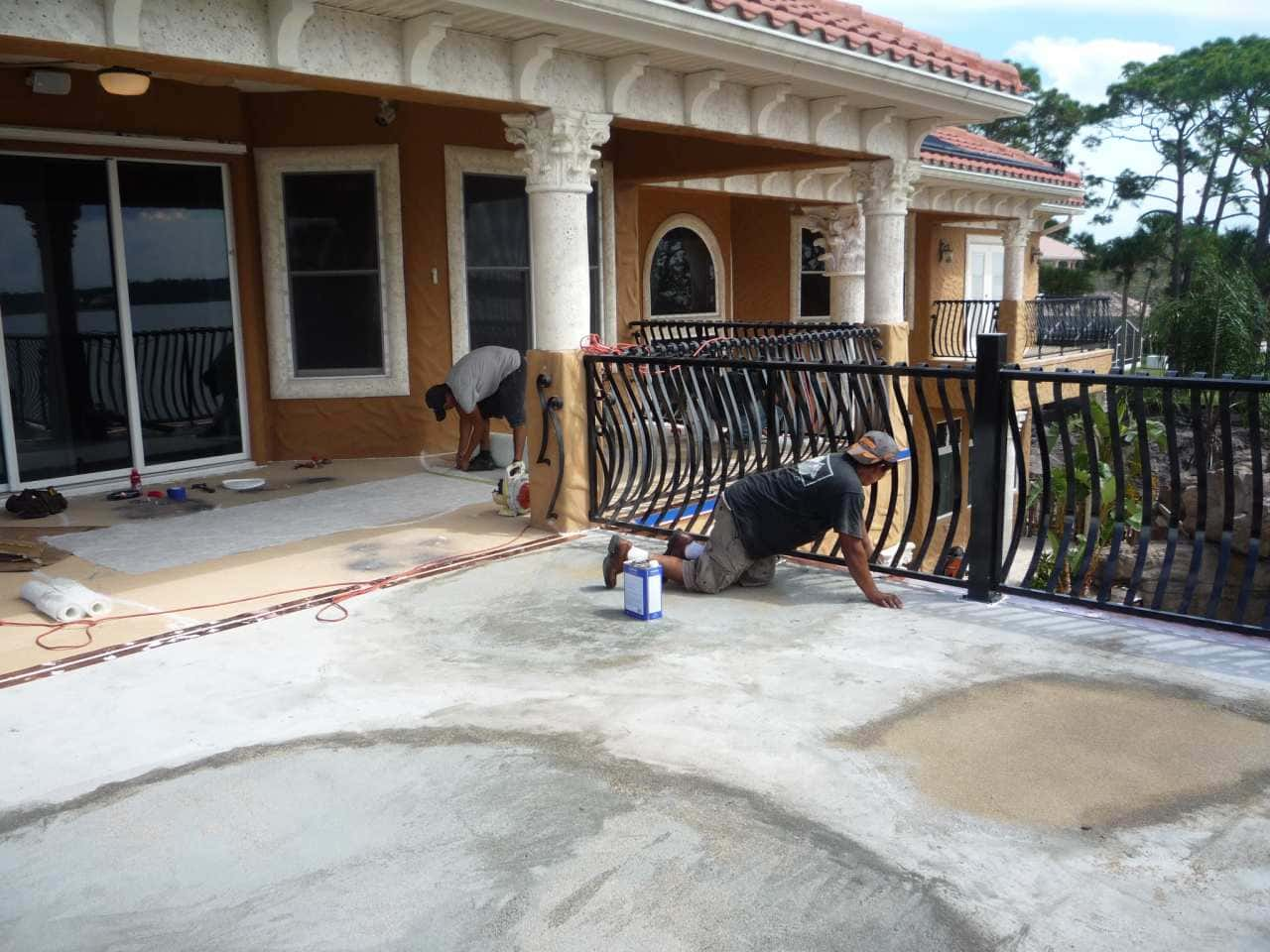 Prepping a concrete deck for a waterproofing system