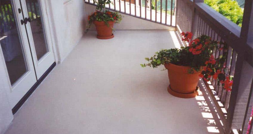 waterproofing a balcony deck