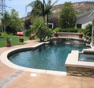 Concrete Coating a Pool Deck