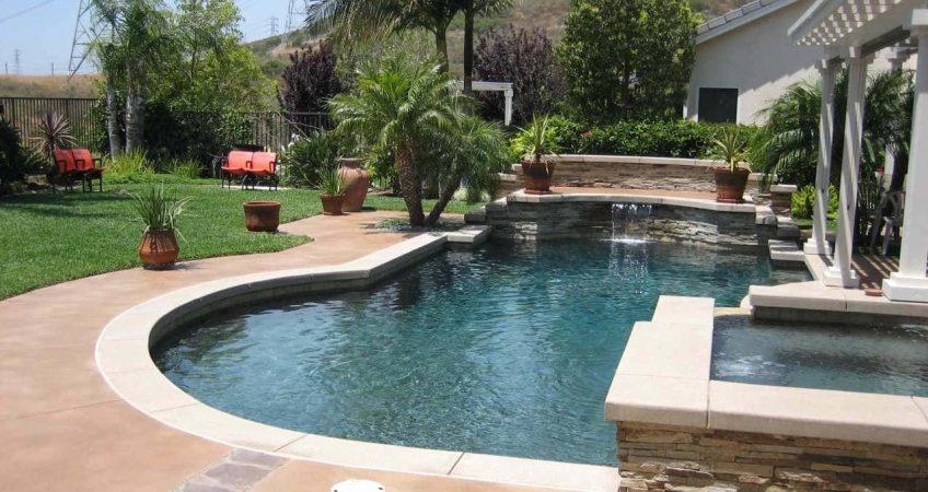 Concrete Coating a Pool Deck