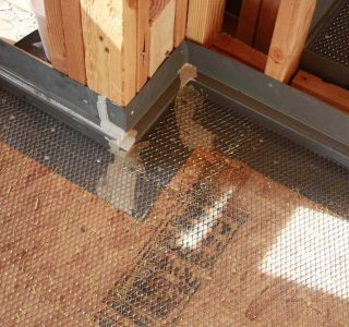 Deck Flashing installed before waterproofing system