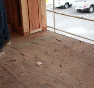 Preparing plywood for a waterproofing system