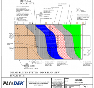 Pli-Dek System Detail - Deck Plan View