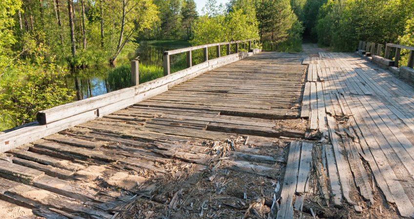 Waterproofing Failures, water damaged bridge